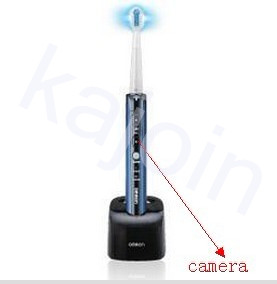 kajoin Pinhole Spy Toothbrush Hidden HD bathroom Camera DVR 1280